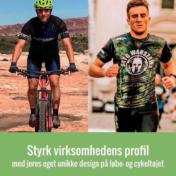 Styrk virksomhedens profil - med jeres eget unikke design på løbe- og cykeltøjet