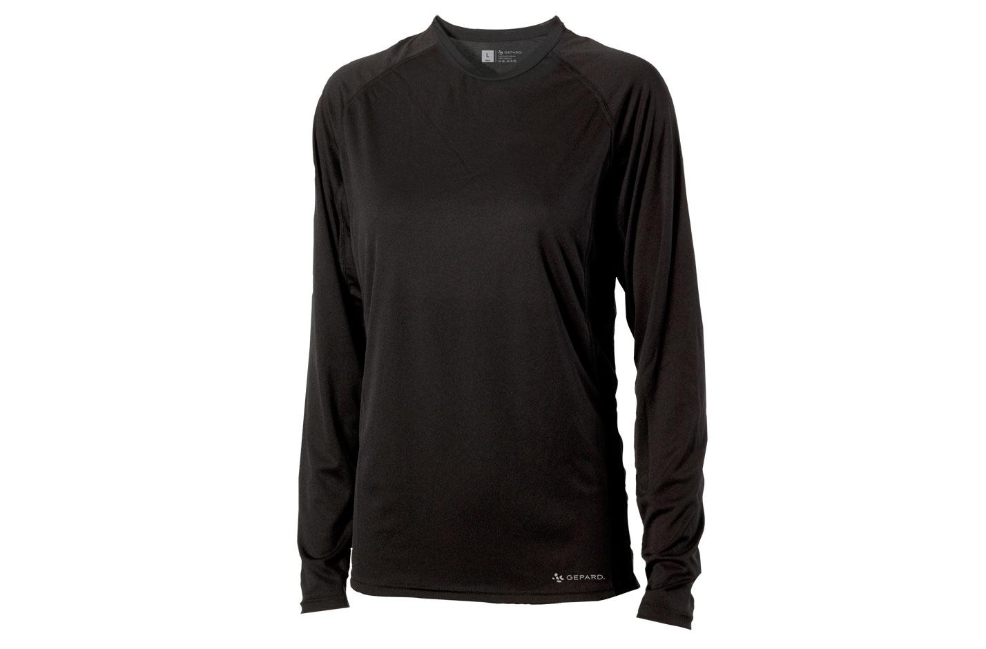 GEPARD Langærmet T shirt, Herre, Sort