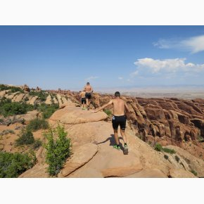 RUN the Canyons Løberejser, Arches National Park, Utah, September 2017
