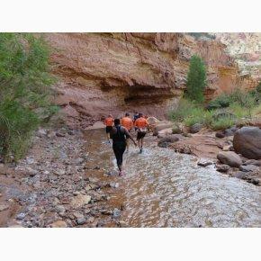 RUN the Canyons Løberejser, Sulphur Creek Trail, Utah, September 2017
