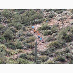 RUN the Canyons Løberejser - Superstition Mountains, Boulder Trail, hårdt men sjovt