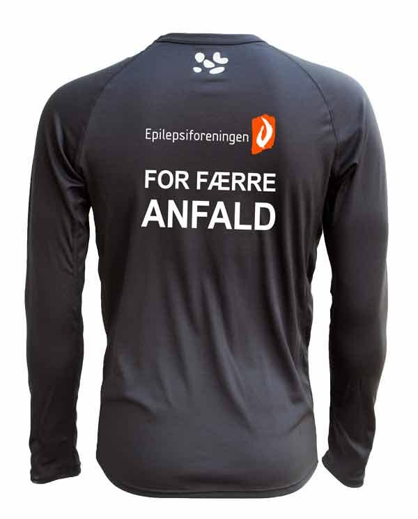 GEPARD Langærmet T shirt Herre Sort Epilepsiforeningen